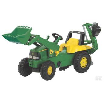 Rolly Toys - John Deere traktor s čelným nakladačom a zadnou rýpacou lyžicou