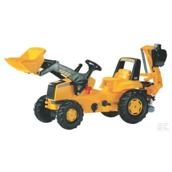 Rolly Toys - Traktor CAT Trac s čelným nakladačom a zadnou rýpacou lyžicou
